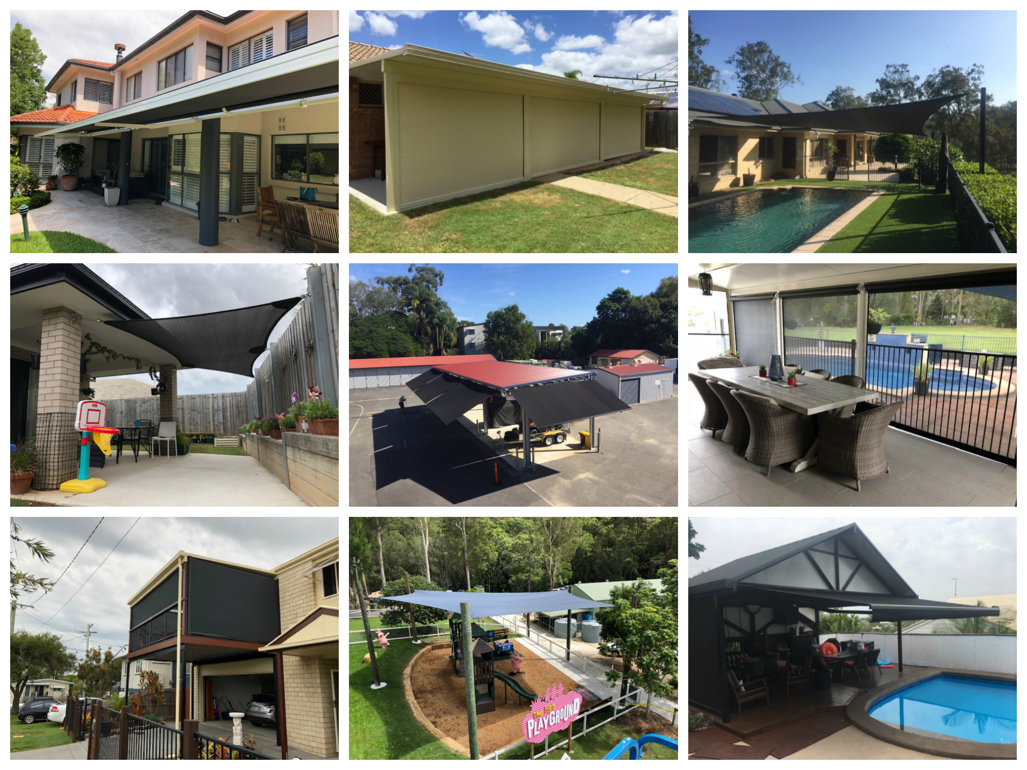 blinds shade sails folding arm awnings totalshade solutions brisbane queensland