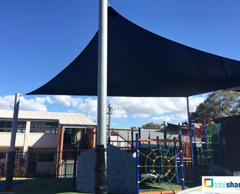 shade sail playground kids play area black school primary sun protection uv prevention total shade solutions brisbane brendale