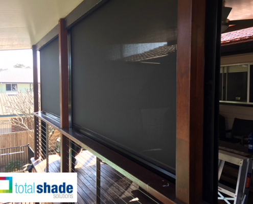 blinds outdoor black patio deck shade privacy sun protection total shade solutions brisbane brendale