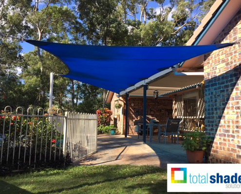 shade sail outdoor area entertainment patio shaded blue pool new total shade solutions brisbane queensland
